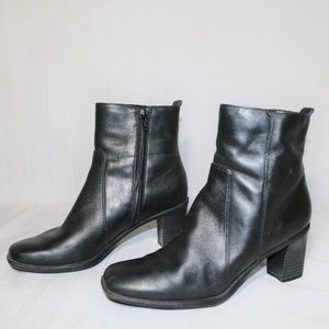 Croft & Barrow ALAYNA BLACK ZIP UP ANKLE BOOTS